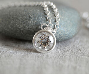 Large Natural Topaz Necklace With Sterling Silver