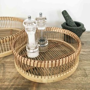 Natural Bamboo Tray Set