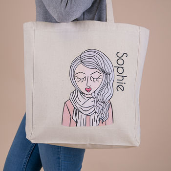 Personalised 'Miss Pretty Chic' Custom Tote Bag