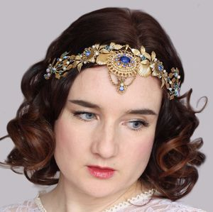 Art Deco Vintage Style Gold Tiara - bridal hairpieces