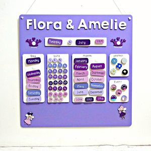 Personalised Childrens Fairy Calendar