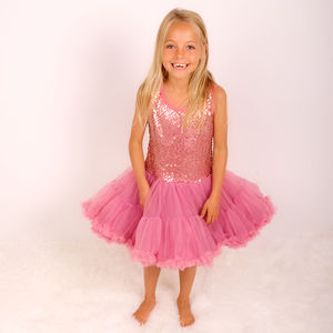 Sequin Party Pettidress Wild Rose - clothing