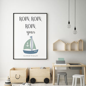 Row, Row, Row… - new in prints & art