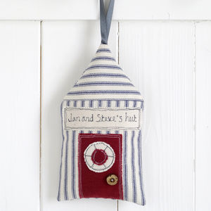 Personalised Beach Hut Decoration - hanging decorations