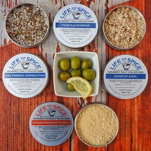 Six Pack Of Flavoured Sea Salts - gifts for men
