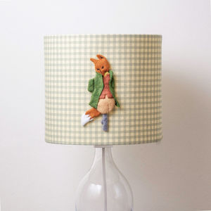 Mr Tod™ 3D Appliqué Handmade Lampshade