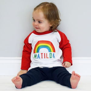 Personalised Kids Rainbow Tshirt - boy's t-shirts