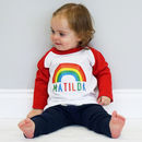 Personalised Kids Rainbow Tshirt