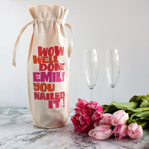 'You Nailed It!' Graduation Bottle Gift Bag - shop by category