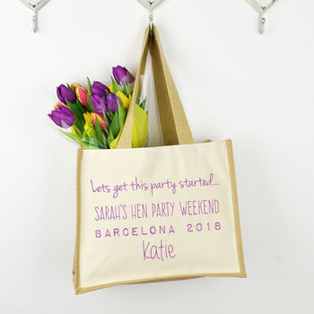 Personalised 'Get This Party Started' Hen Party Bag