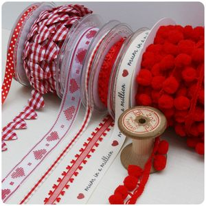 Red Ribbon And Trim Collection - cards & wrap