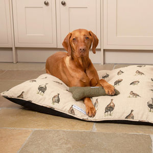 Premium Linen Dog Beds - dogs