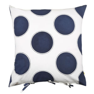 Palai Large Bold Spot Cushion Cover In Indigo