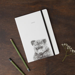 Bear Round Cornered Notebook