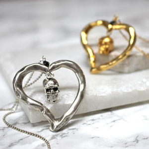 Skull Heart Necklace - view all sale items