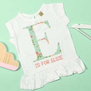 Personalised Floral Letter Tunic - clothing