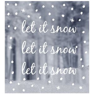 Window Sticker Let It Snow Design