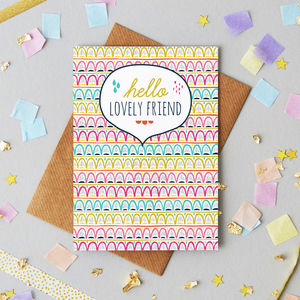 Friend Greetings Card - blank cards
