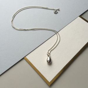 Sterling Silver Teardrop Necklace - jewellery sale