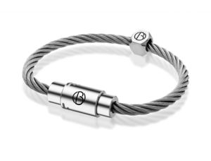 Personalised Stainless Steel Cable Bracelet