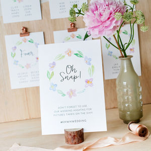 Spring Meadow Wedding Table Sign