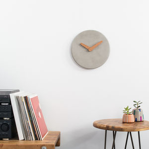 Plain And Simple Concrete Wall Clock - clocks
