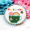 Positivi Tea Cross Stitch Kit For Adults