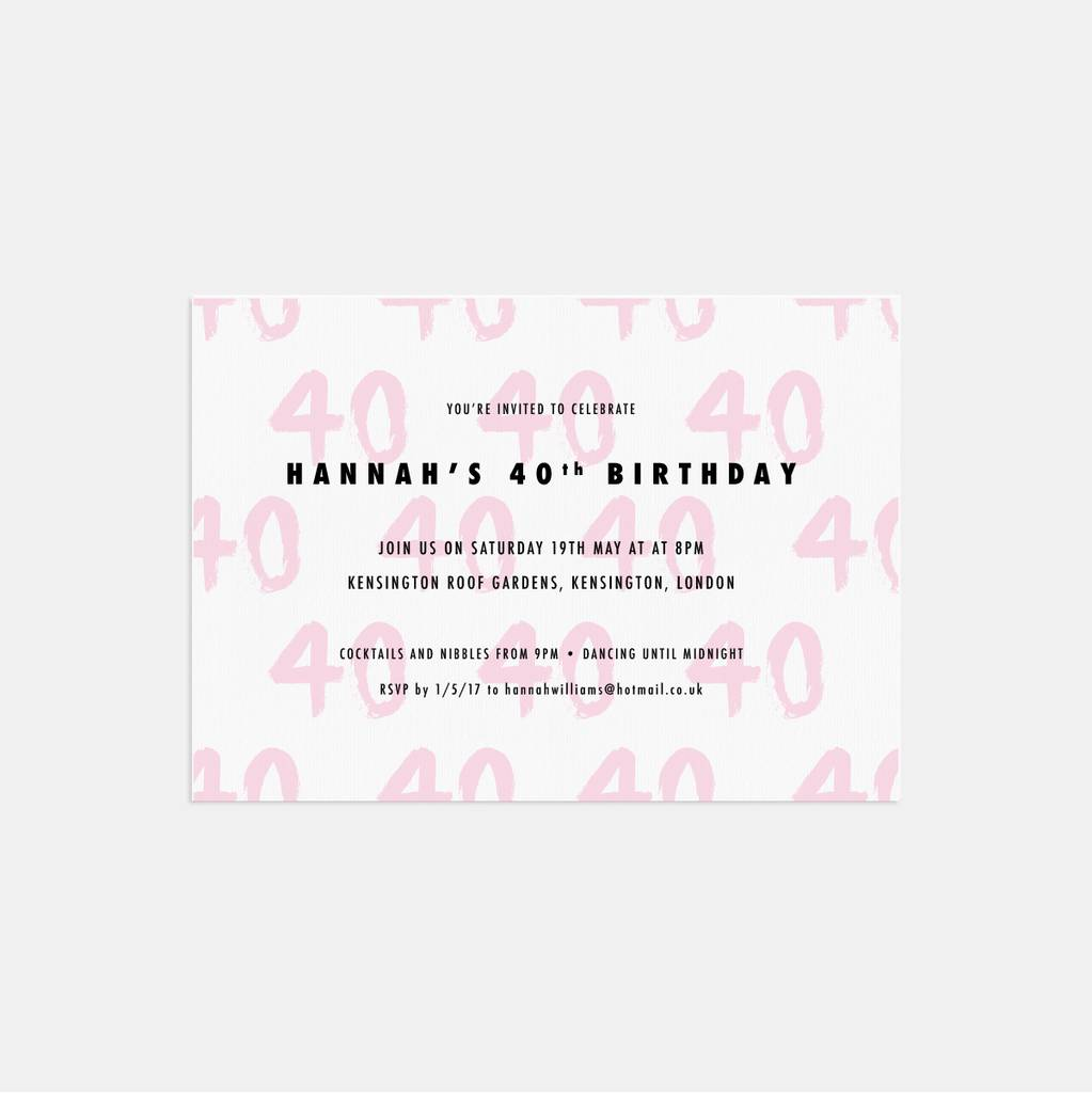 20 Brushed Age Birthday Party Invitations By Lolas Paperie