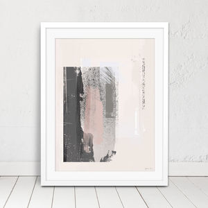 'Way Out' Minimal Abstract Painted Art Print - posters & prints