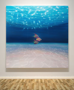 The Angel Queens Ride Out A Large Underwater Seascape - canvas prints & art