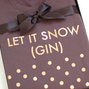 Gin Christmas Jumper Grey Rose Gold Let It Snow Unisex