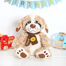 Personalised Teddy Dog With Scarf
