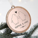 Couple's Christmas Bauble Rose Gold