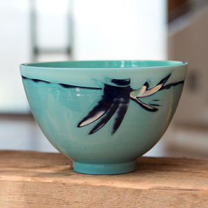 Aquamarine Turquoise Blue Ceramic Bowl - kitchen
