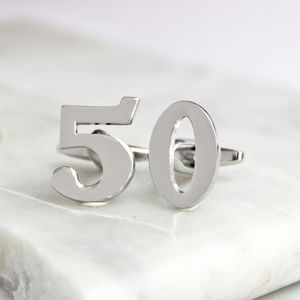 50th Birthday/Anniversary Cufflinks - new in jewellery