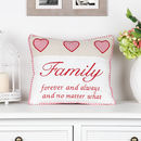 Family Love Hearts Scatter Cushion