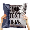 Personalised Message Sequin Reveal Cushion Cover