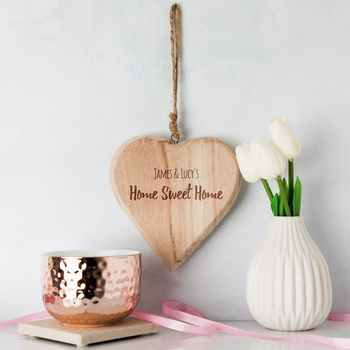 Personalised Home Sweet Home Heart Sign