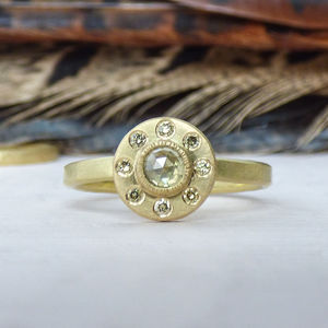 Hera Ethical Engagement Ring In Fairtrade Gold