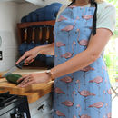 Blue Flamingo Kitchen Apron