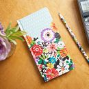 Flower Patch Slim Address Book