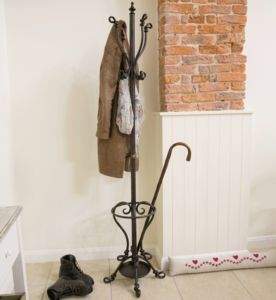 Black Deauville Iron Knotted Coat Stand - baby's room