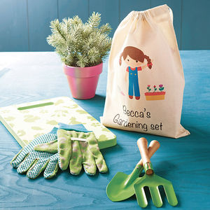 Gardening Set With Personalised Bag