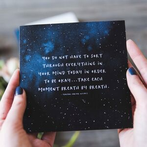 'Take Each Moment' Empathy Card