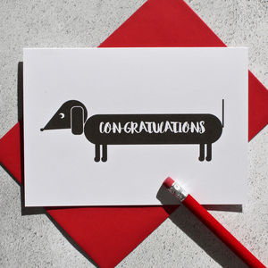 Dog Themed Congratulations Card - congratulations cards