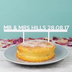 Handmade 'Mr And Mrs' Acrylic Wedding Cake Topper