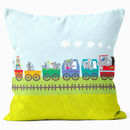 Elephant Train Cushion