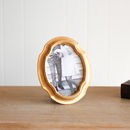 Oval Ornate Gold Trim Photo Frame