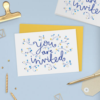 Gold Foil Invitation Card