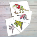 Dinosaur Christmas Cards